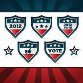 Patriotic Voting Shields