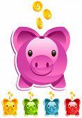 Colorful Piggy Banks