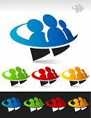 Swoosh Group People Icons
