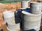 concrete rings for water or draw-wells