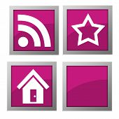 Web Icons Pink