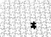 White Puzzle Without Last Piece