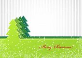 Christmas Background With Green Fir-tree