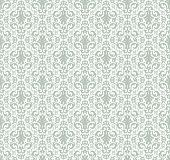 picture of brocade  - Damask seamless pattern vector for background design - JPG