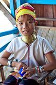 Padaung tribe girl