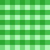 Green checkered cloth