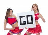 Two Beautiful Dancer Girls From Cheerleading