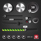 Hi-end User Interface Elements For Audio Player And Website