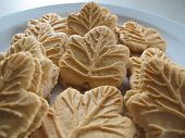 Maple cookies on plate