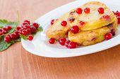 Pancakes With Red Currants