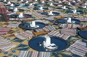 Huge Restaurant In Turkey With Turkish Carpets And Traditional Tables