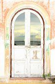 Old Wood Door ,