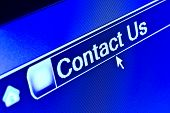Internet Browser Contact Us Concept