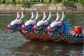 Traditional Dragon Boats In Taiwan