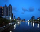 The Love River In Kaohsiung By Night