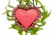 Lucky Bamboo Heart Shape