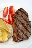 Grilled New York Steak Vertical