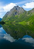 Norway, Scandinavia, Europe. Beautiful Fjord And Coast.