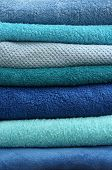 Stacked Bath Towels Texture