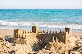 Sand Castle On Beach