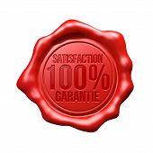 Rotes Wachs Siegel - Zufriedenheit 100 % Garantie