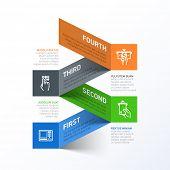 Постер, плакат: Снятие наличных средств из шаблона абстрактных Инфографика ATM Вектор