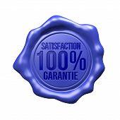 Blaue Siegel - Zufriedenheit 100 % Garantie
