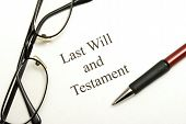 stock photo of deceased  - A will agreement for the deceased ones final arrangements - JPG