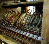 Gegrillter Fisch Makrele (Steckerlfisch) At The Munich