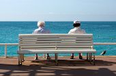 Senior Couple On Cote D'azur