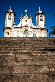 View Of The Igreja De Nossa Senhora Do Carmo Of The Unesco World Heritage City Of Ouro Preto In Mina