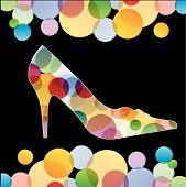 Shoe with colorful circle