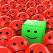 glücklich grün Cube smiley