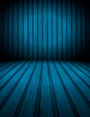 Blue Wooden Room Background