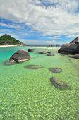 Koh Nang Yuan Limestones Island, Thailand