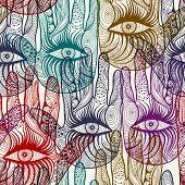 Seamless hand background pattern. EPS 10