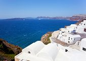 View Of Generic Village At Santorini Island