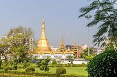 picture of yangon  - Sule pagoda in Rangoon city of Myanmar  - JPG