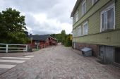 Cobble Stone Road In Finland Town