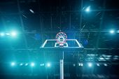 Basketball Concept with spotlights