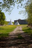 Indian Teepees Outside Fort
