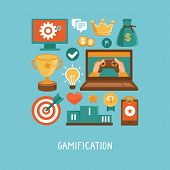 stock photo of achievement  - Vector concept in flat style  - JPG