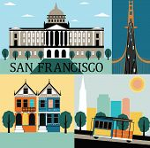 image of track home  - San Francisco California USA made from different parts - JPG