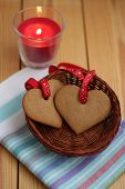 Two  Heart-shaped Cookie For Valentines Day