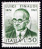 Postage Stamp Italy 1974 Luigi Einaudi, Politician