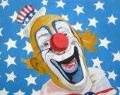 Patriotic American Uncle Sam Clown