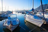 foto of boat  - Denia marina boats in alicante Valencia Province of Spain - JPG