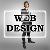 Businessman In A Web Design Concept
