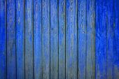 painted old wooden wall. blue background
