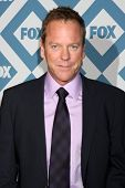 LOS ANGELES - JAN 13:  Kiefer Sutherland at the FOX TCA Winter 2014 Party at Langham Huntington Hote